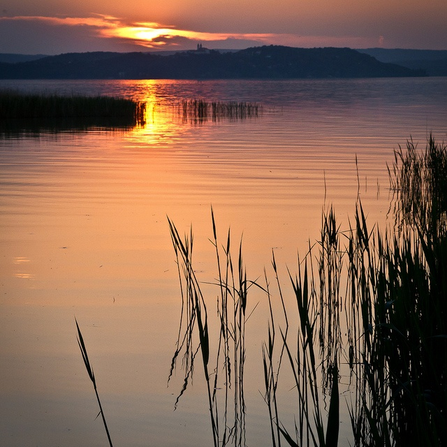 Sunset in Zamárdi, Hungary