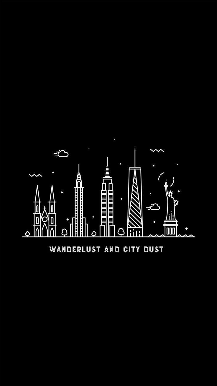 Wanderlust Significado Hiking In 2020 Black Background Wallpaper Wallpaper Iphone Disney Iphone Wallpaper Mountains