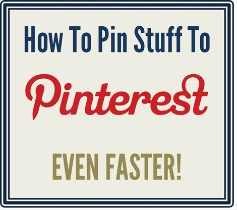 Pin faster? This is great!