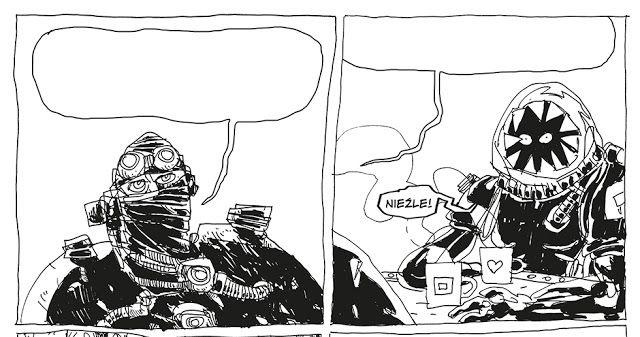 Jakub Kijuc - komiks, ilustracja: Konstrukt Owieczka