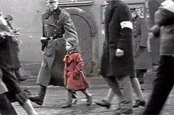 Schindlers List- The 'girl in the red coat' scene is a bit of Spielberg genius. As Schindler watches from up high on the mountain of safety to the hell of the ghetto below this one child catches his eye. Until then, like most Germans, it was easy for him to ignore the nameless masses. The red coat, the only color in the film, is literally humanity. Suddenly he 'sees' the horror of the new world he has taken full advantage of. Much later, her dead body is seen in a heap of thousands.