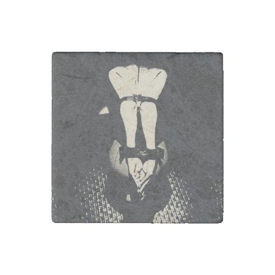 #Black and #white #sexy #submissive #slave #girl #posing #dark #art #stone #magnet #erotic #fetish #bondage @zazzle