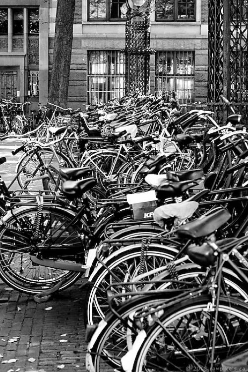 Amsterdam - Oh, the frustration when you realized some asshole chained his bike to yours.... I don't miss those days!!