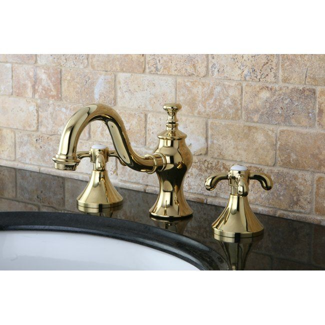 French Country Widespread Bathroom Faucet With Drain Assembly