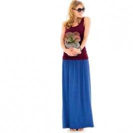 Deze maxirok is lekker voor zowel een stranddag of een city trip. Leuk te dragen met een kort topje erboven of een shirtje erin.