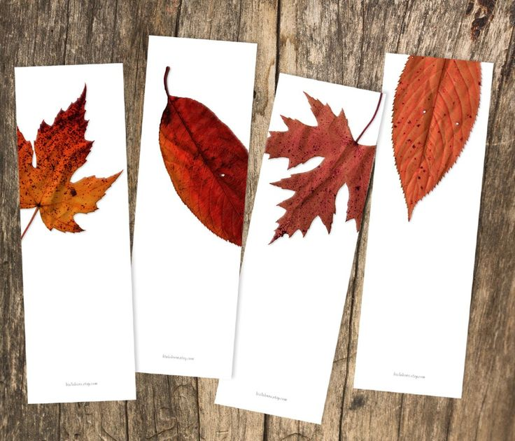 red leaves photography, printable, bookmark, set of 4, DIY, print yourself, warm, autumn, leaf, purple, maroon, rust, brown, maple, birch. $7.00, via Etsy.
