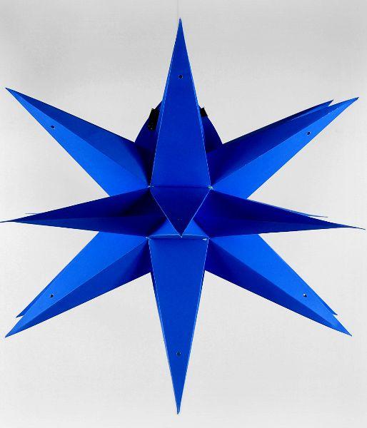 "24"" Blue Geometrical Multi Point Star Lanterns  $13 each / 2 for $12 each"