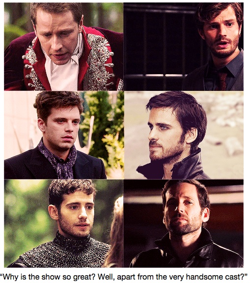 The men of Once Upon A Time....no excuse not to watch these men