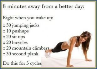 For the mornings I want a little more sleep- 8-Minute Exercise Plan for Women That Actually Works