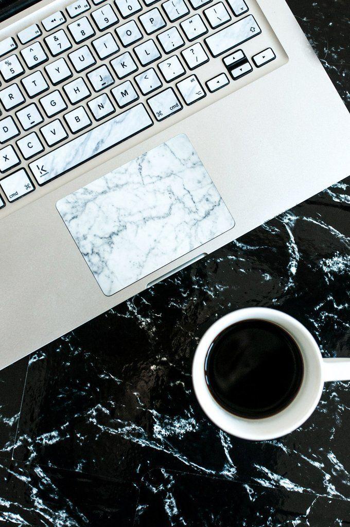 super popular d817d b8e8d White Marble Strong MacBook Trackpad Sticker | laptop | Macbook ...