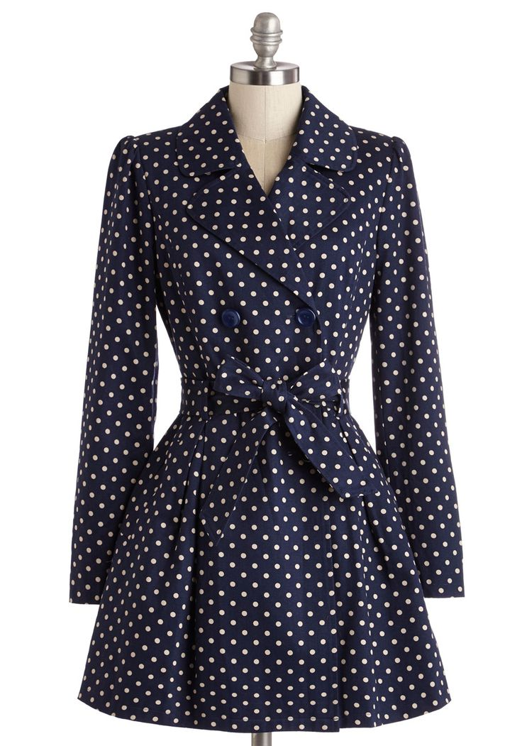 Capital Class Trench #modcloth #ad *love the polka dots