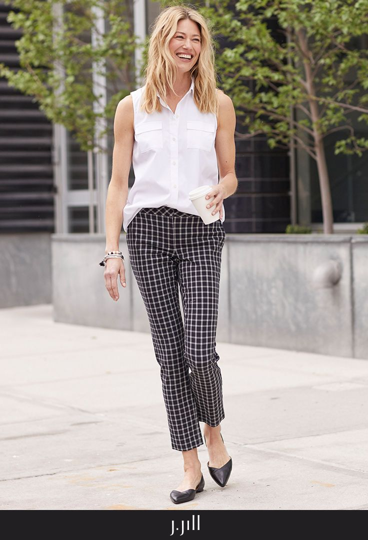 Introducing The Quinn Pant A New Sophisticated Color For Our Most Versatile Pant A Plaid Pant Plaid Pants Outfit Womens Dress Pants How To Style Plaid Pants [ 1080 x 736 Pixel ]