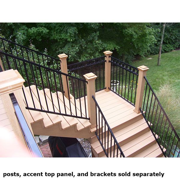 FE26 Iron Prefabricated Adjustable Stair Panel By Fortress | Deck