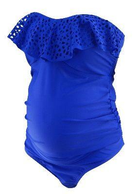 *New* Royal Electric Blue Motherhood Maternity Swim Suit 2 Pieces (Size Large)…