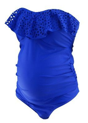 *New* Royal Electric Blue Motherhood Maternity Swim Suit 2 Pieces (Size Large)…
