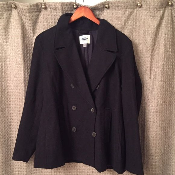Navy Blue pea coat Brand new old navy pea coat with 4 buttons. Never worn. Old Navy Jackets & Coats Trench Coats