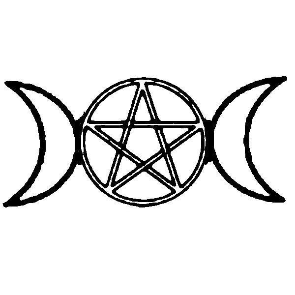 classic triple goddess with pentagram   Occult/Pagan ...