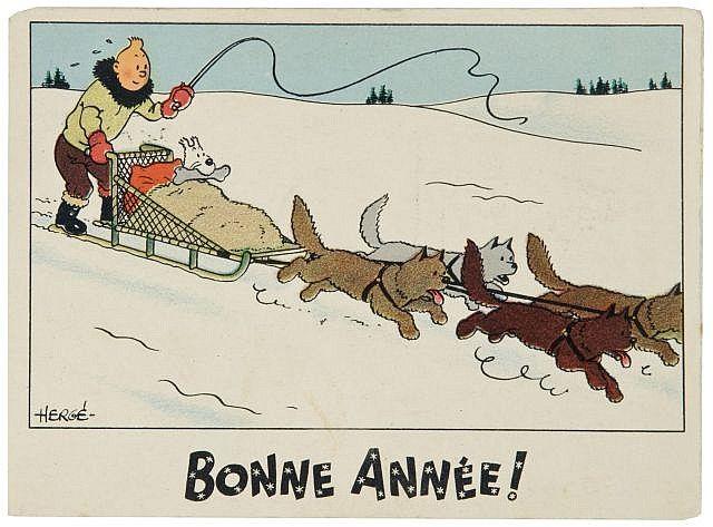 Bonne Année, Tintín