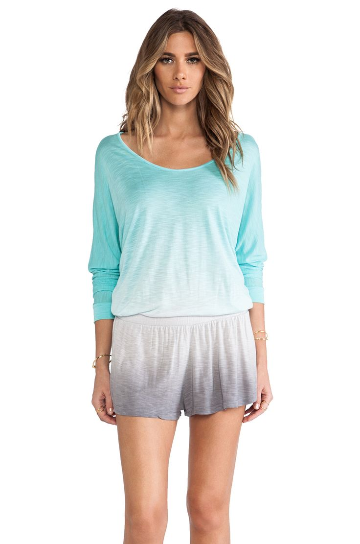 Athena massey red alert pictures to pin on pinterest - Shop For Young Fabulous Broke Jasmin Romper In Aqua Grey Ombre At Revolve