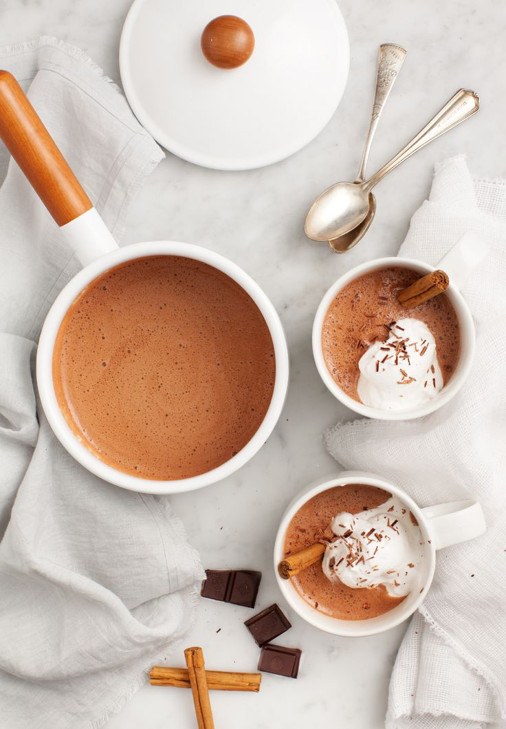 Maca Cacao Hot Chocolate Recipe | Vegan, dairy free, gluten free, paleo, and vegetarian. | Click for healthy recipe. | Via Love and Lemons
