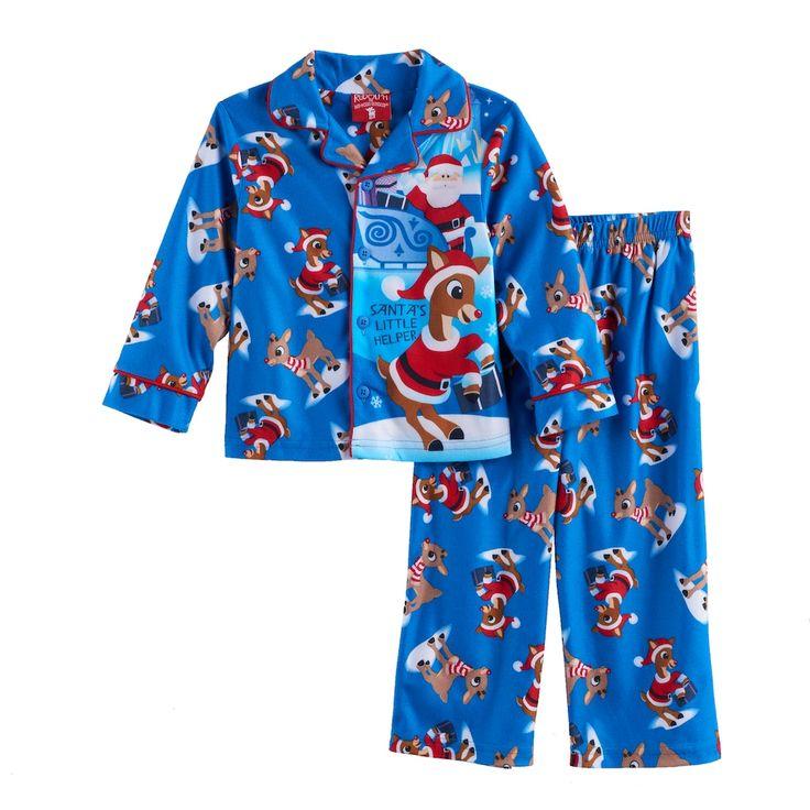 "Toddler Boy Rudolph the Red Nosed Reindeer ""Santa's Little Helper"" Pajama Set, Size: 3T, Multicolor"