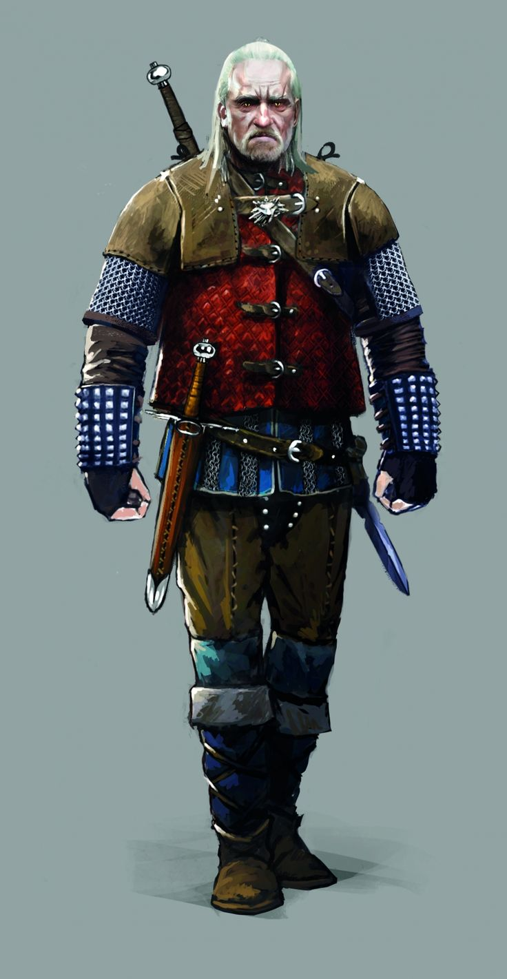 Old Geralt concept from The Witcher 3: Wild Hunt