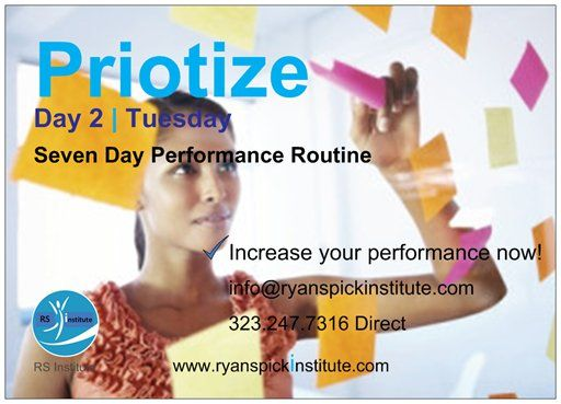 #Prioritize #Day #Tuesday #Seven #Day #Performance #Routine #Increase