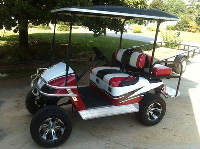 For Sale Custom ezgo gas golf cart @ www.xtremetoyzclassifieds.com