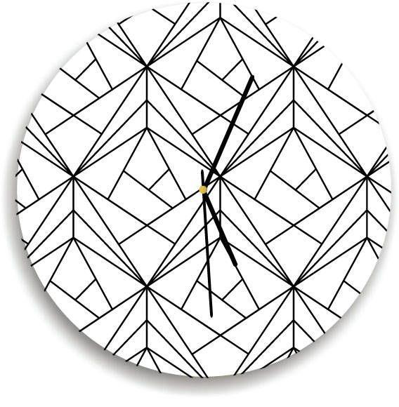 Geometric Triangles Wall clock Minimalist Kids Room Modern