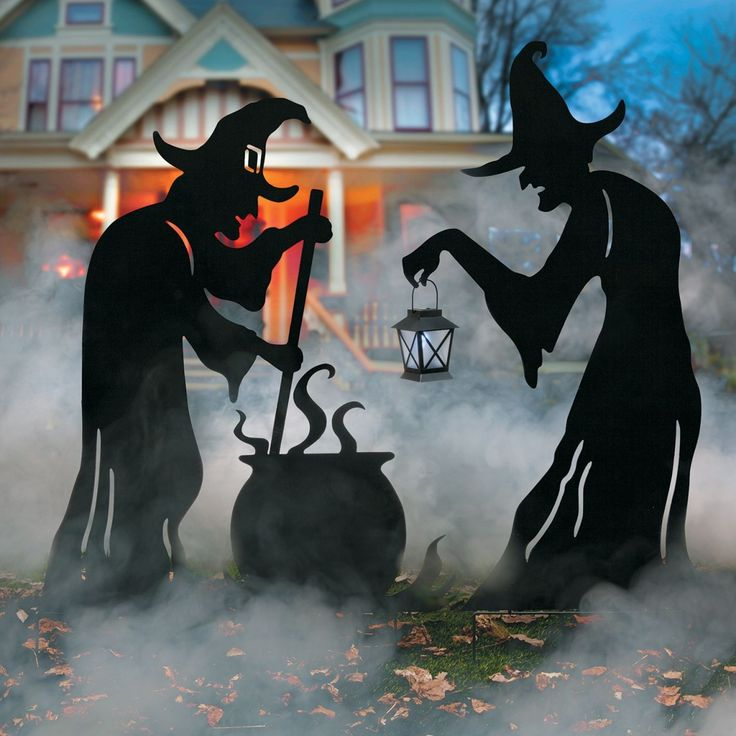 Scary Halloween Yard Decoration Ideas 374 best halloween decorations images on pinterest halloween witch silhouettes with cauldron outdoor halloween decoration metal yard artblack metalspooky halloweenhalloween ideascauldronoutdoor workwithnaturefo