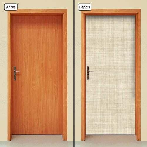 adesivo decorativo de porta - linho - 382mlpt