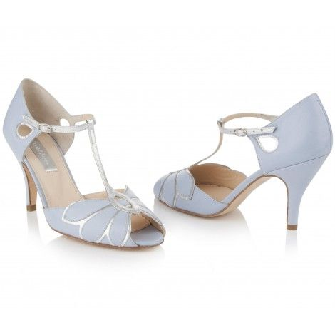 Mimosa Powder Blue by Rachel Simpson Vintage Leather Designer Wedding Party or Occasion Shoes