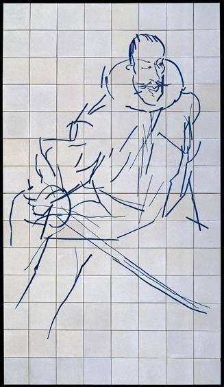 Luís de Camões (1989)  Painel de azulejos de composição figurativa do…