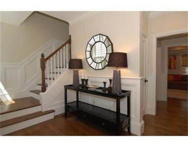 Simple Symmetrical Entry Table Welcomes You Home Boston