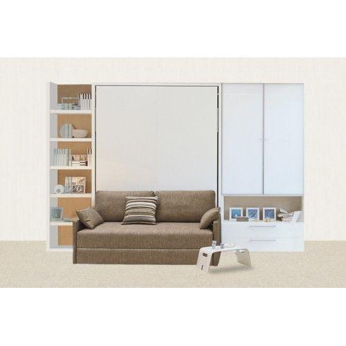 Модель Prime, кроме откидной кровати, оснащена небольшим удобным диванчиком и двумя шкафами, которые могут быть как закрытыми, так и открытыми. Компактно, многофункционально и уютно.Как и все модели Prime довольно многофункциональна: играет роль как места для отдыха, так и пространства для хранения вещей. В каких тонах будет выполнен комплект, определяет, конечно же, клиент.