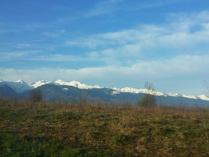 Snow on Făgăraş