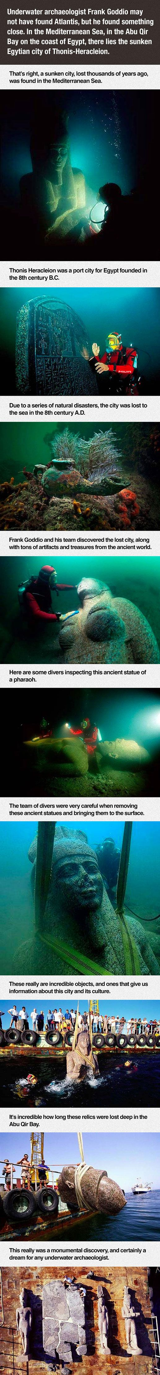 Best Heracleion Images On Pinterest Cities Animation And - Explorers discover ancient 1200 year old egyptian city