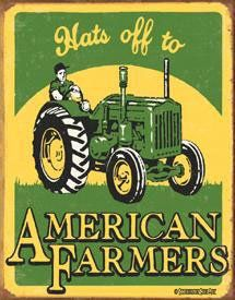 $9.06 Hats Off To American Farmers John Deere Style Tractor Tin Sign  From Poster Revolution   Get it here: http://astore.amazon.com/ffiilliipp-20/detail/B000L6MD94/184-6120296-7024547