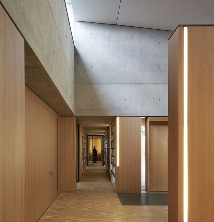 Beautiful Interior With Integrated Furniture The Britten Pears Archive By Stanton Williams