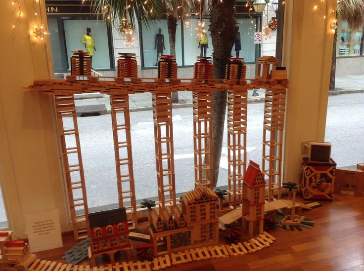 Try your luck with this bridge.  Challenge your inner KAPLA.  #blocks #Kapla #kids #gifts #holidays #parents