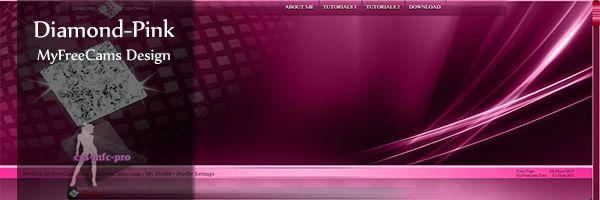 diamond pink premium myfreecams profile design
