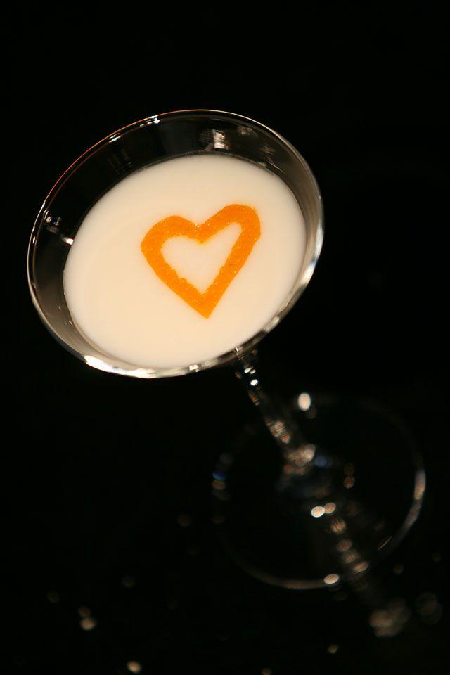 Creme Brulee Martini 45 ml vanilla-flavored vodka30 ml Frangelico15 ml Cointreau30 ml half and halfShake. Pour in a cocktail glass and garnish with a vanilla stick.
