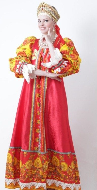 Russian costume, kokoshnik headdress