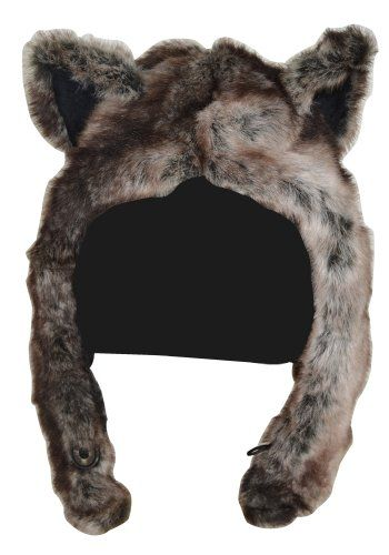 Fursuit Wolf Ears Pattern Wolf Half Hoodie Animal Hat