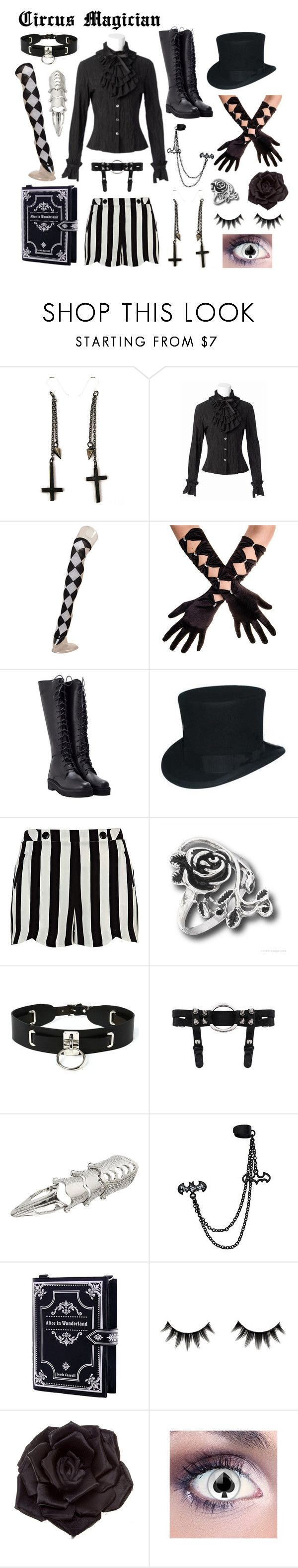 """Circus Magician"" by melodyfire ❤ liked on Polyvore featuring Alex and Chloe, Bodyline, LD Tuttle, River Island, Zana Bayne and Johnny Loves Rosie"