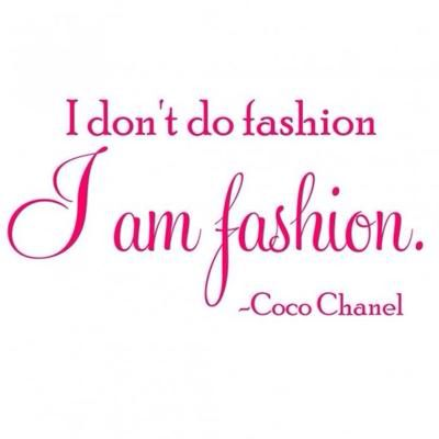 Fashion quote by Coco Chanel.