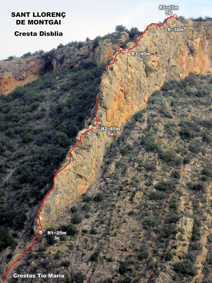 Sant Llorenç de Montgai - Crestas Tío María (5c, 155 m, 4c obligado) ~ Escalando