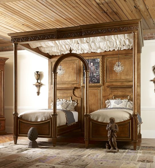 """Oh, my Gosh! This is brilliant and would be great for a guest room! ~from Habersham: """"Biltmore Cornelias Cloister Bed"""""""