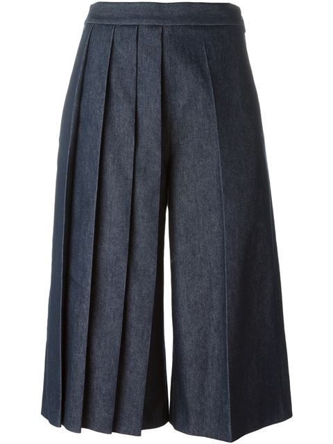 Shop MSGM pleated leg denim culottes in Voga from the world's best independent boutiques at farfetch.com. Shop 300 boutiques at one address.