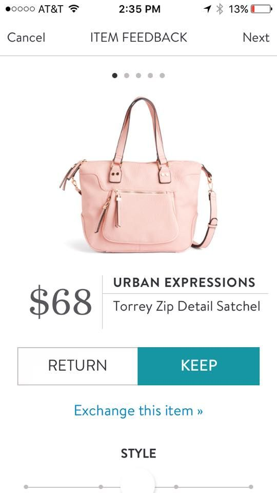 Urban Expressions Torrey Zip Detail Satchel. I love Stitch Fix! A personalized styling service and it's amazing!! Simply fill out a style profile with sizing and preferences. Then your very own stylist selects 5 pieces to send to you to try out at home. Keep what you love and return what you don't. Only a $20 fee which is also applied to anything you keep. Plus, if you keep all 5 pieces you get 25% off! Free shipping both ways. Schedule your first fix using the link below! #stitchfix…